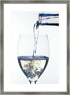 White Wine Pouring Framed Print by Garry Gay