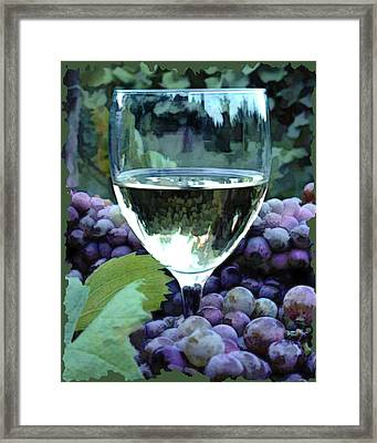 White Wine Reflections Framed Print by Elaine Plesser