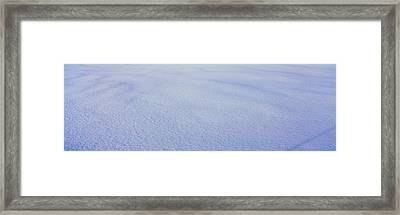 White Winter Snow In Vermont Framed Print by Panoramic Images