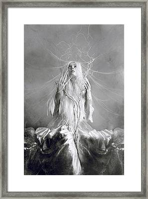 White Witch Framed Print by Cambion Art