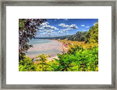Whitefish Dunes State Park Beach In Door County Framed Print by Christopher Arndt