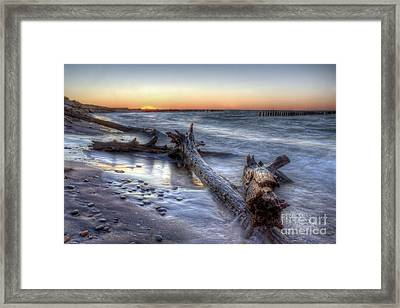 Whitefish Point Sunset Framed Print by Twenty Two North Photography