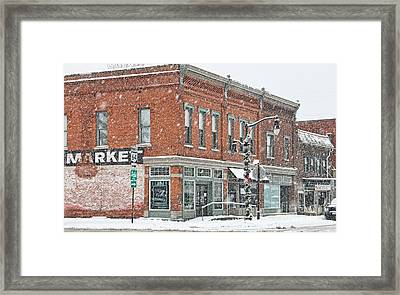 Whitehouse Ohio In Snow 7032 Framed Print by Jack Schultz