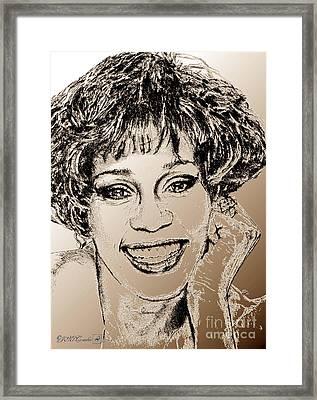 Whitney Houston In 1992 Framed Print by J McCombie