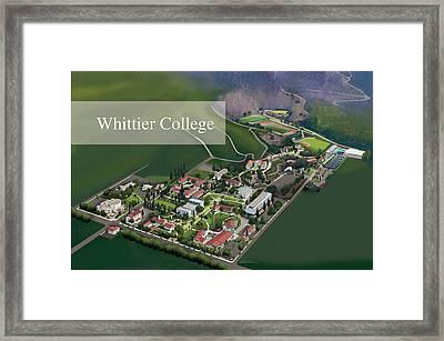 Whittier College Framed Print by Rhett and Sherry  Erb