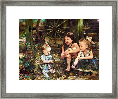 Who Are Those Indwellers Of The Sacred Ground? Framed Print by Kyle Lind