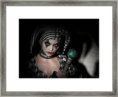 Who Do You Call A Fool Framed Print by Britta Glodde