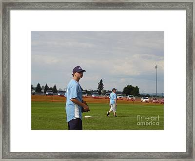Who Has The Ball Framed Print by Valerie Shaffer