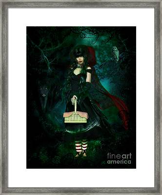 Who Is Afraid Of The Big Bad Wolf Framed Print by Shanina Conway