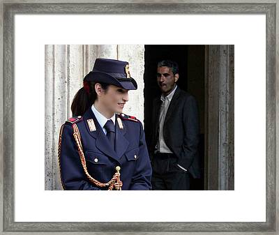 Who Is That Guy Framed Print by John Garbarino