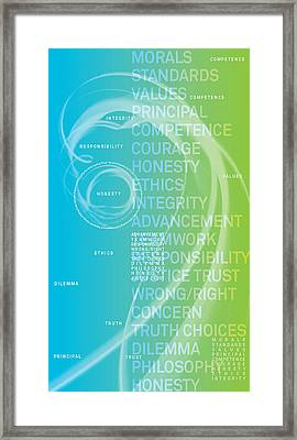 Who Is The Most Ethical Person.3 Framed Print by Page One Tang
