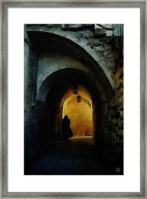 Who Is Waiting For What Framed Print by Gun Legler