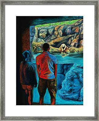 Who Is Watching Whom Framed Print by Bob Northway
