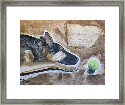 Who Rescued Who Framed Print by Melissa Torres