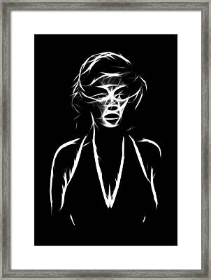 Who S That Girl Framed Print by Steve K