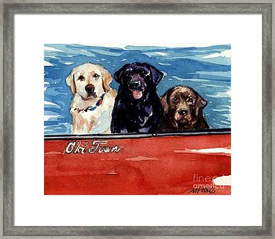 Whole Crew Framed Print by Molly Poole