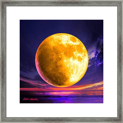 Whole Of The Moon Framed Print by Robin Moline