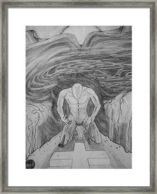 Whom Shall I Fear Part 1 Framed Print by Justin Moore