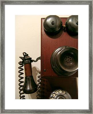 Who's Calling... Framed Print by Alessandro Della Pietra