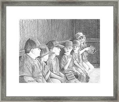 Whos On First Framed Print by Michael Beckett