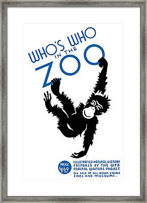 Whos Who In The Zoo Framed Print by War Is Hell Store