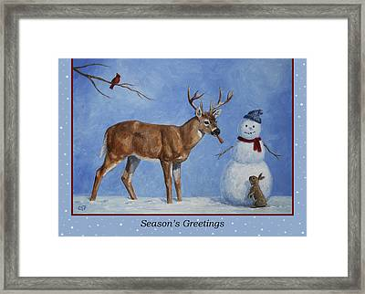 Whose Carrot Seasons Greeting Framed Print by Crista Forest