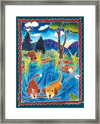 Whose Stick Is It? Framed Print by Harriet Peck Taylor