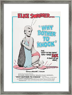 Why Bother To Knock, Aka Dont Bother To Framed Print by Everett