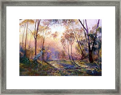 Why I Live Where I Live Framed Print by Lynda Robinson