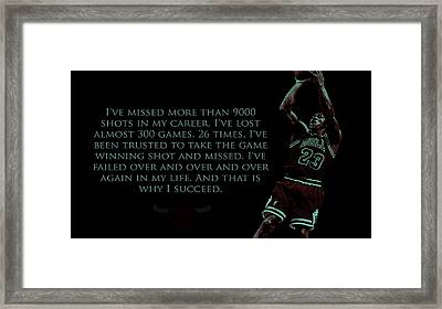 Why I Succeed Framed Print by Brian Reaves