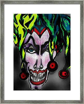 Wicked Jester #2 Framed Print by Tiffany Selig
