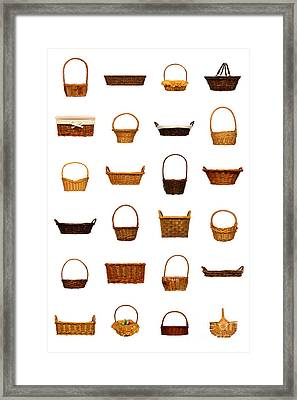 Wicker Basket Collection Framed Print by Olivier Le Queinec