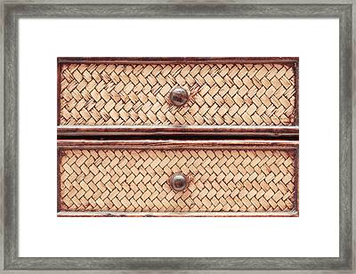 Wicker Drawers Framed Print by Tom Gowanlock