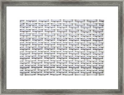 Wicker Framed Print by Tom Gowanlock