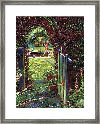 Wicket Garden Gate Framed Print by David Lloyd Glover