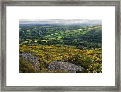 Widdecombe In The Moor Framed Print by Pete Hemington