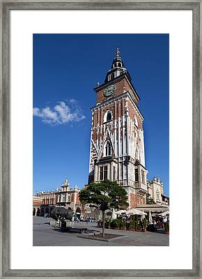 Wieza Ratuszowa, The 13th Century Town Framed Print by Panoramic Images