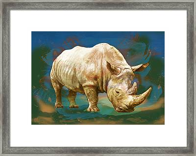 Wild Animal Stylised Pop Art Drawing Potrait Poster Framed Print by Kim Wang