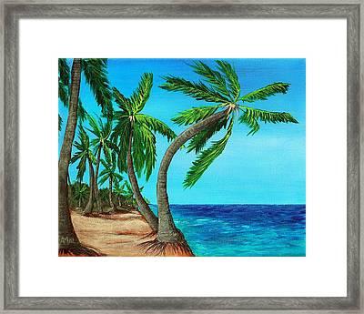 Wild Beach Framed Print by Anastasiya Malakhova