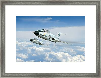 Wild Blue Voodoos Framed Print by Peter Chilelli