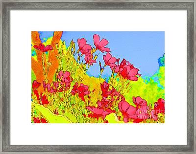 Wild Flowers In Bloom Framed Print by Julie Lueders