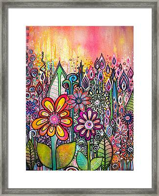 Wild Flowers Framed Print by Robin Mead