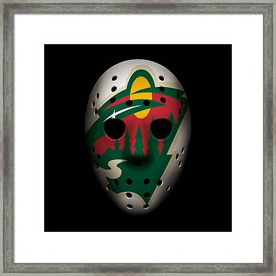 Wild Goalie Mask Framed Print by Joe Hamilton