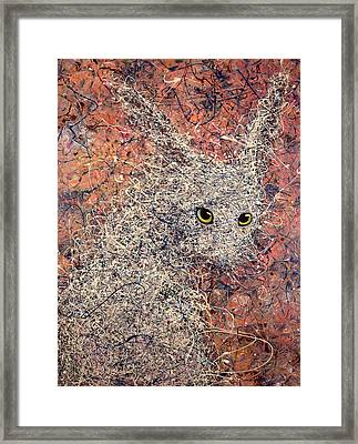 Wild Hare Framed Print by James W Johnson
