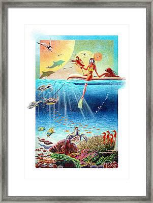 Wild Horses Framed Print by David  Chapple