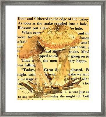 Wild Mushrooms Warm And Subtle Framed Print by Beverley Harper Tinsley
