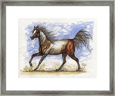 Wild Mustang Framed Print by Angel  Tarantella