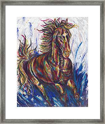 Wild Mustang Framed Print by Lovejoy Creations