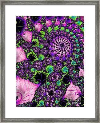 Wild Pink Swirl Framed Print by Linda Troski