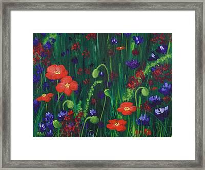 Wild Poppies Framed Print by Anastasiya Malakhova
